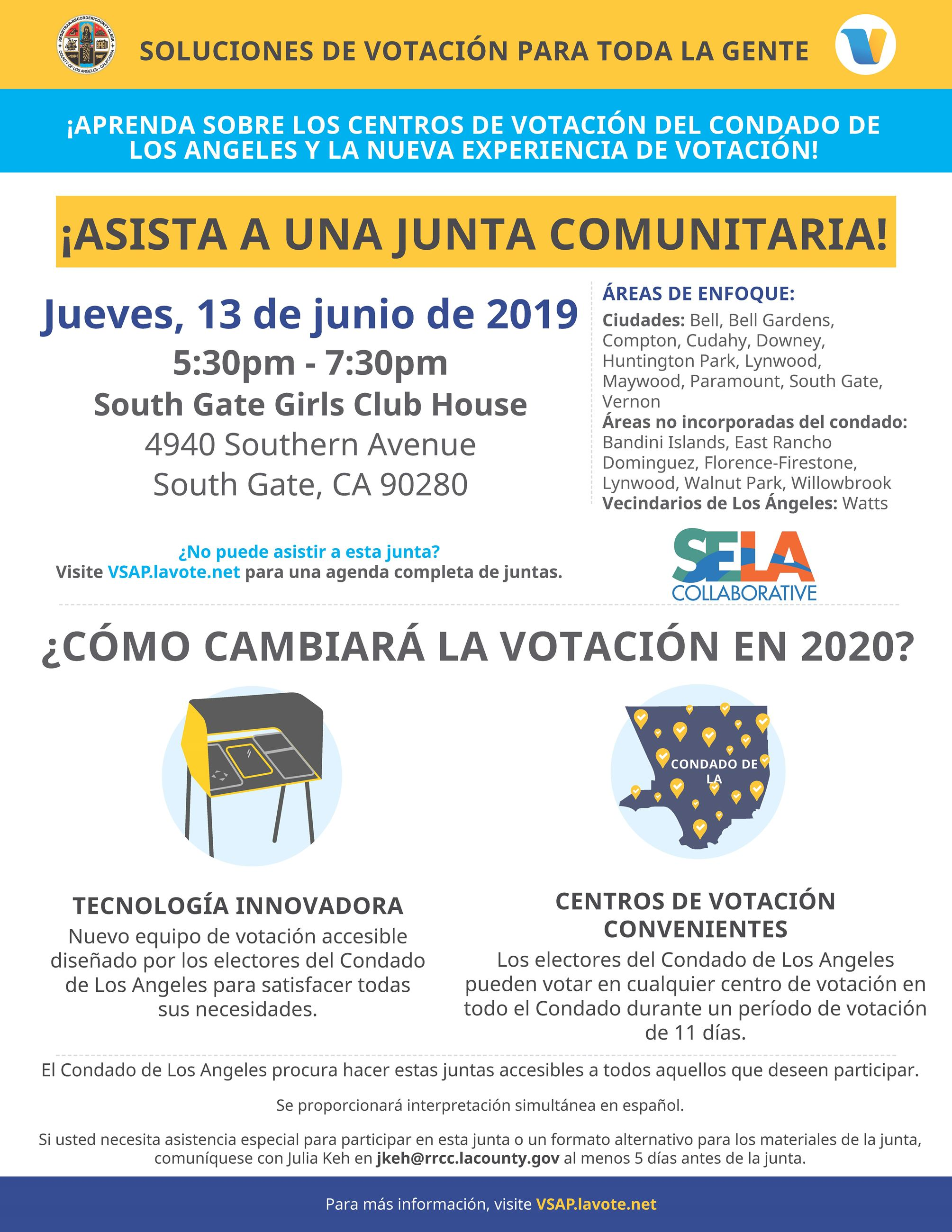 VCPP Flyer- Spanish SELA Collaborative 6-13-19