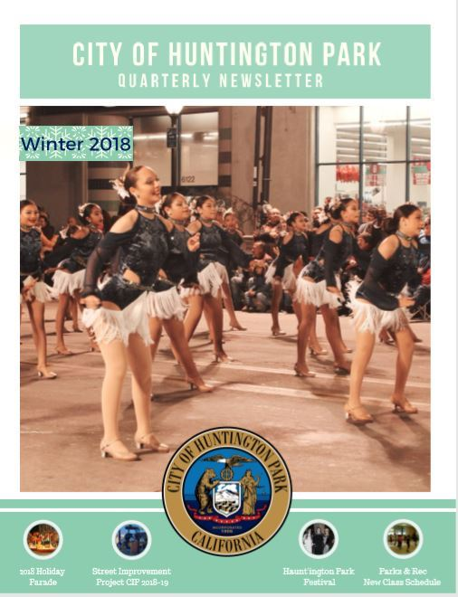 News Leter Winter 2018 Front page only